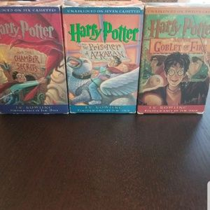 Harry potter Audio books on cassettes.